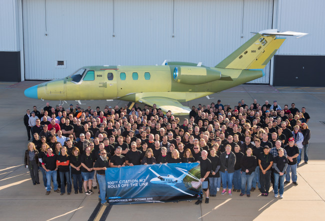 Citation M2 100th Rollout
