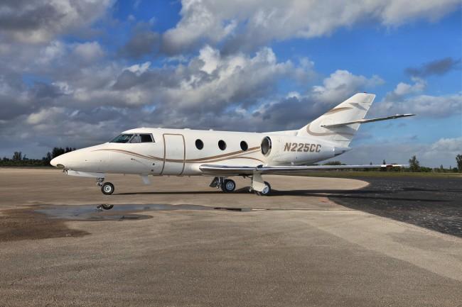Falcon 100, sn225 for Premier Jet Aviation Copyright Info Contact: Barry Gray Biz Jet Photos, Inc. (847-367-9024) bgray@bizjetphoto.com www.bizjetphoto.com